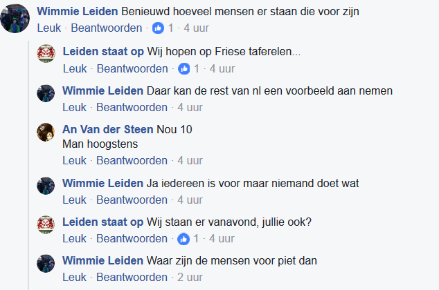 Teleurgestelde pietofielen op Facebook.