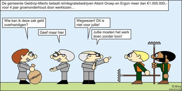 Zie voor meer cartoons: www.arvy.org. (Cartoon: Arvy)