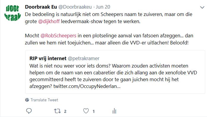 Tweet en respons