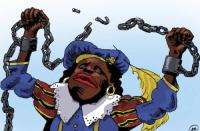 Piet breekt zijn ketenen.