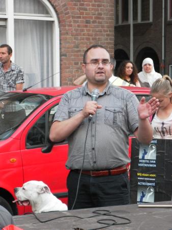 Nog een toespraak tijdens de demonstratie. (foto: Eric Krebbers)