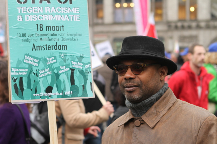 Anti-racisme demonstratie.