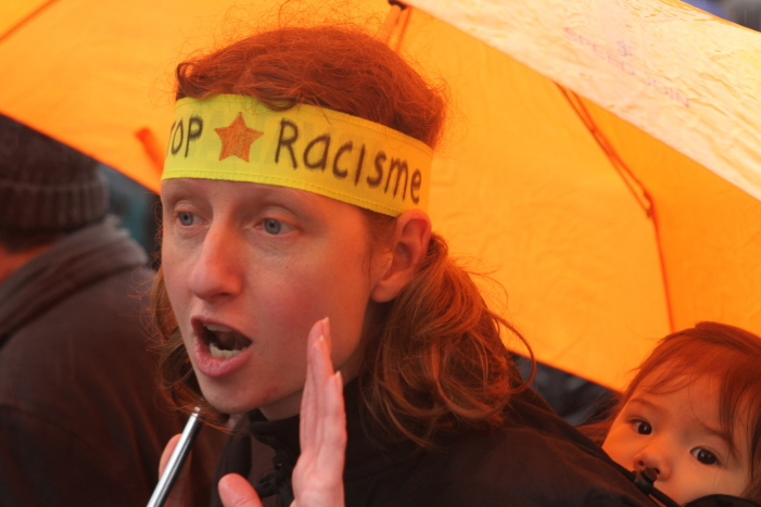 Anti-racisme demonstratie.