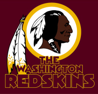Logo van de Redskins.
