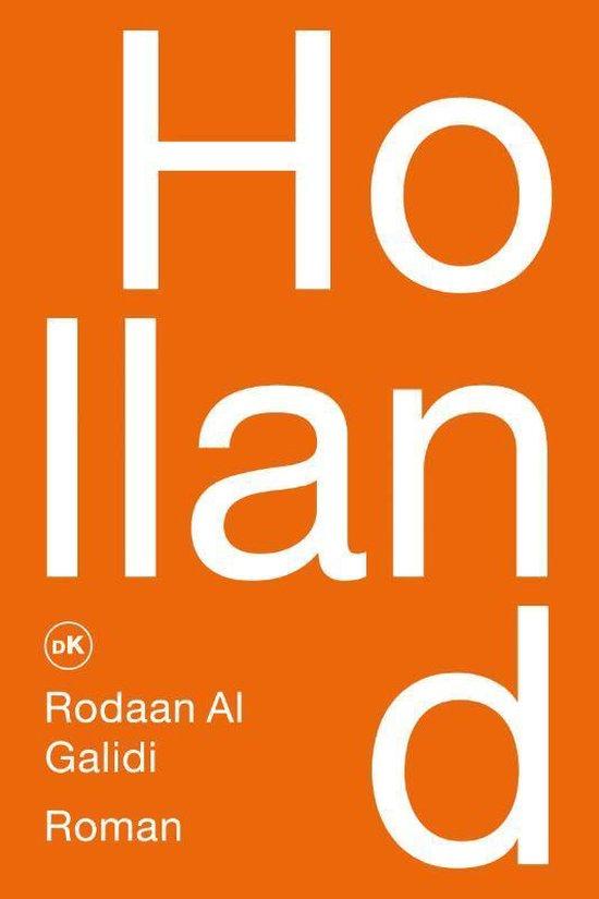 """Cover van het boek """"Holland"""". Oranje cover met grote letters."""