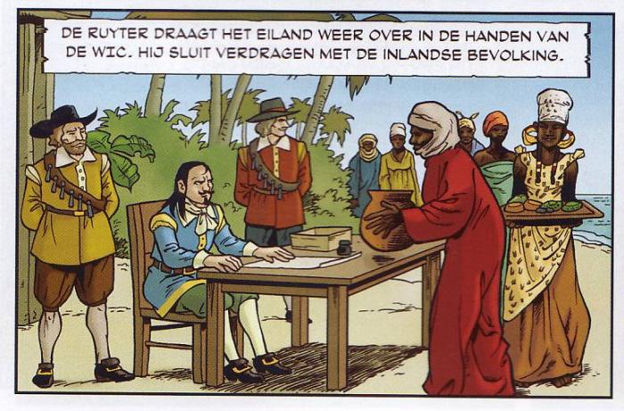 Beschermheer stelt de slavenhandel veilig.