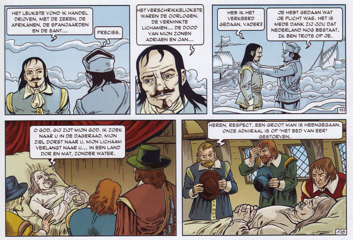 Nationalistisch gereutel bij dood van de beschermheer van de slavernij. (Klik op de strip voor een grotere versie.)