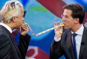 De nationalisten Rutte en Wilders vieren hun ruzie met Turkije.