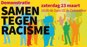 Facebook-banner van de demonstratie