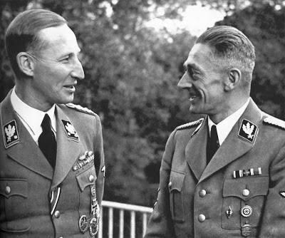 Reinhard Heydrich en Karl-Hermann Frank.