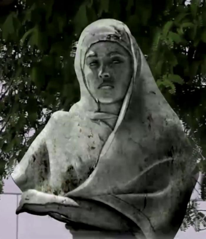 Het beeld van Janey Tetary.