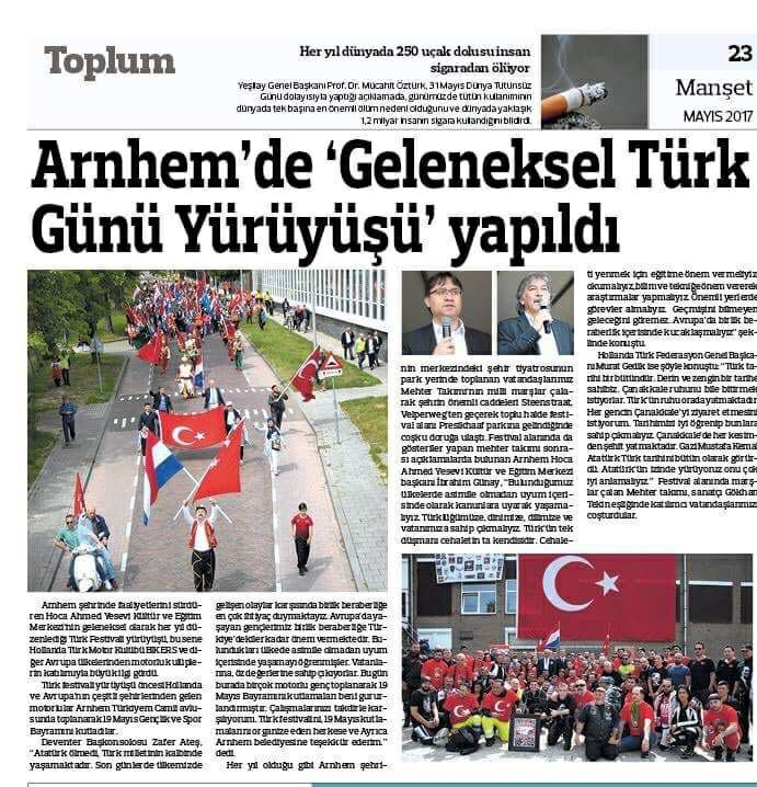 Grijze Wolven Arnhem organiseren jaarlijkse Turkse festival.
