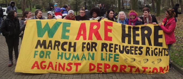 De wilskrachtige vrouwen die meededen aan de mars.