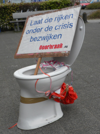The protest-toilet was also present again.