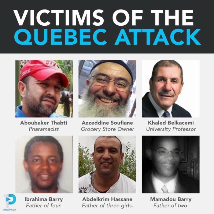 """Dodelijke slachtoffers van de """"keurige"""" Bissonnette."""