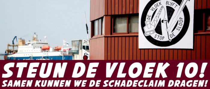 Banner van de actie.