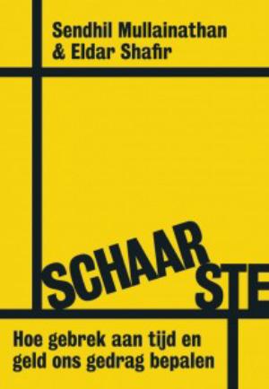 """De voorkant van het boek """"Schaarste""""."""
