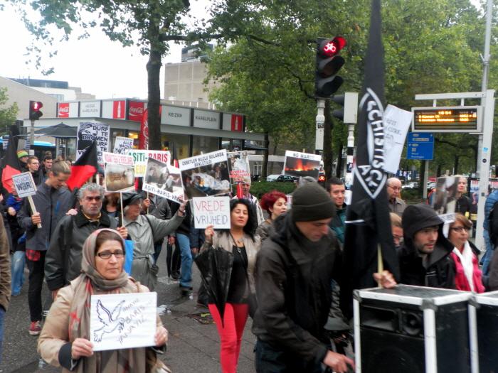 De demonstratie.