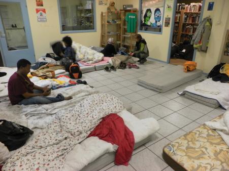 Slapen in het kantoor van Doorbraak in Leiden.