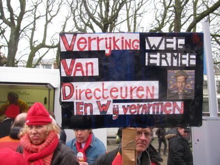 Ook tijdens het protest.