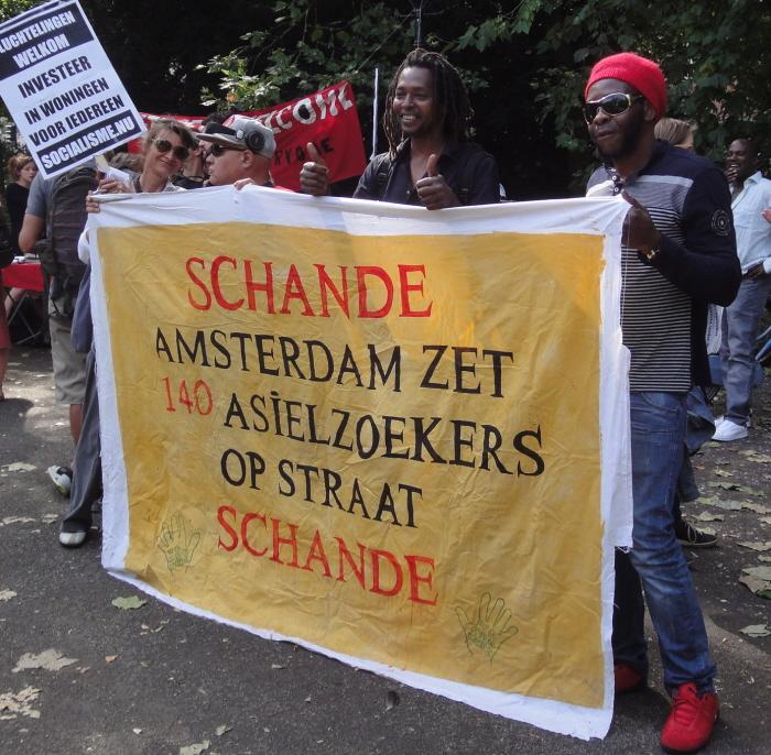 Activisten van Wij Zijn Hier.