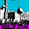 Poster van de internationale actieweek tegen dwangarbeid en sancties.