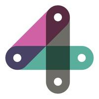 Het logo van Wigo4it, bestaand uit drie dezelfde balkjes in verschillende kleuren die samen het cijfer 4 vormen.