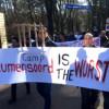 Demonstratie gisteren.