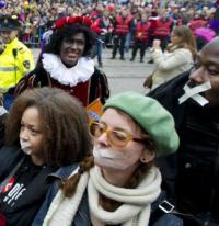 Bij de intocht van Sinterklaas afgelopen zondag.