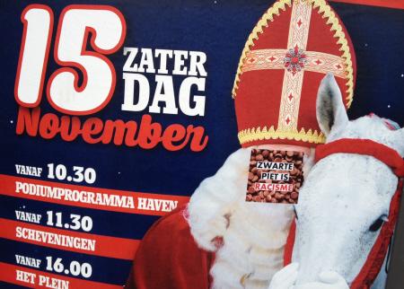 Op Haagse intocht-propaganda.
