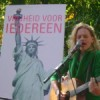 Zangers op de manifestatie in Den Haag