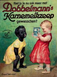 """Reclame: """"Had jij je nu ook maar met Dobbelmann's karnemelkzeep ...: www.doorbraak.eu/joke-kaviaar-zwarte-piet-racisme-punt"""