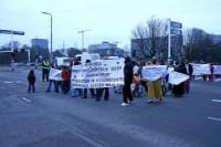 Demonstratie Ntundenganye op 19 maart 2009