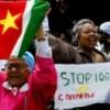 Protest tegen 100 procent controles