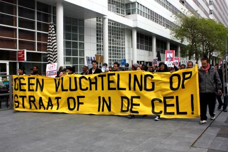 Vluchtelingendemonstratie op 22 mei 2013 in Den Haag. (Foto: Parvaneh)