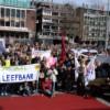 ID-ers in actie in Groningen op 13 april 2011.