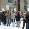 Protest tegen de invoering van de inburgeringsplicht in maart 2006