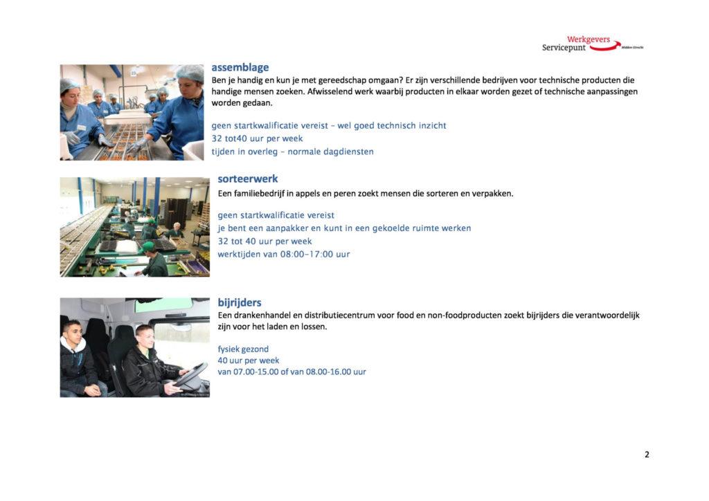 Screenshot van diverse vacatures, zonder bedrijfsnamen erbij.