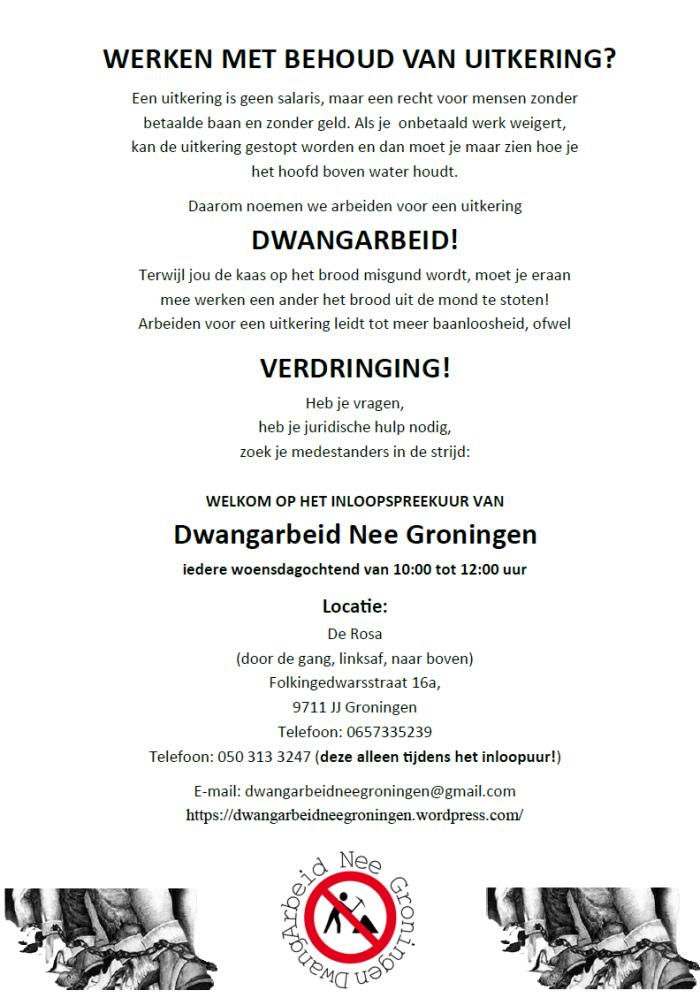 De uitgedeelde flyer. Klik erop voor een beter leesbare pdf-versie.